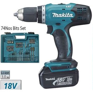 PERCEUSE Makita - Perceuse visseuse 13mm 18V Li-Ion 2x3Ah +