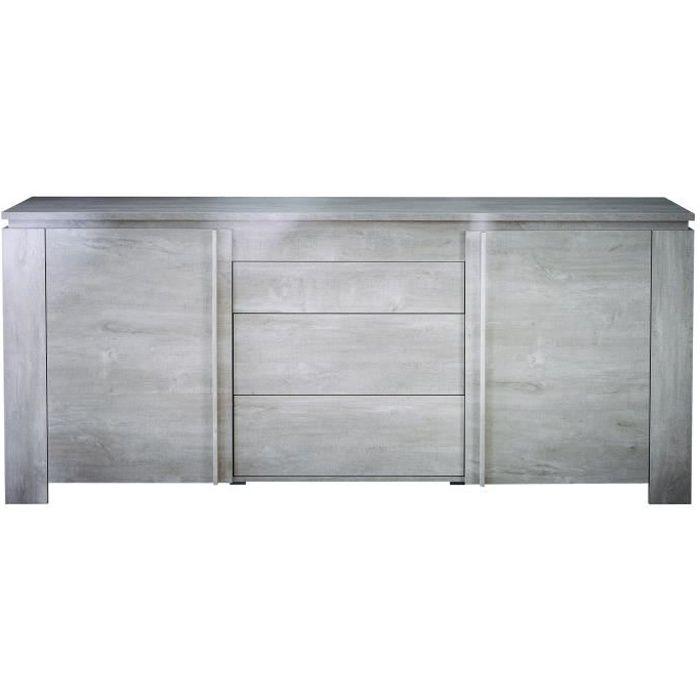 SEGUR Enfilade style contemporain décor chêne et gris - L 205 cm