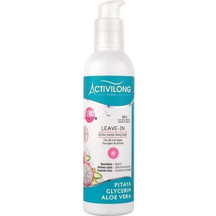 ACTIVILONG Soin sans rinçage Acticurl Hydra Leave-In - Pitaya, glycerine et aloe vera - 240 ml