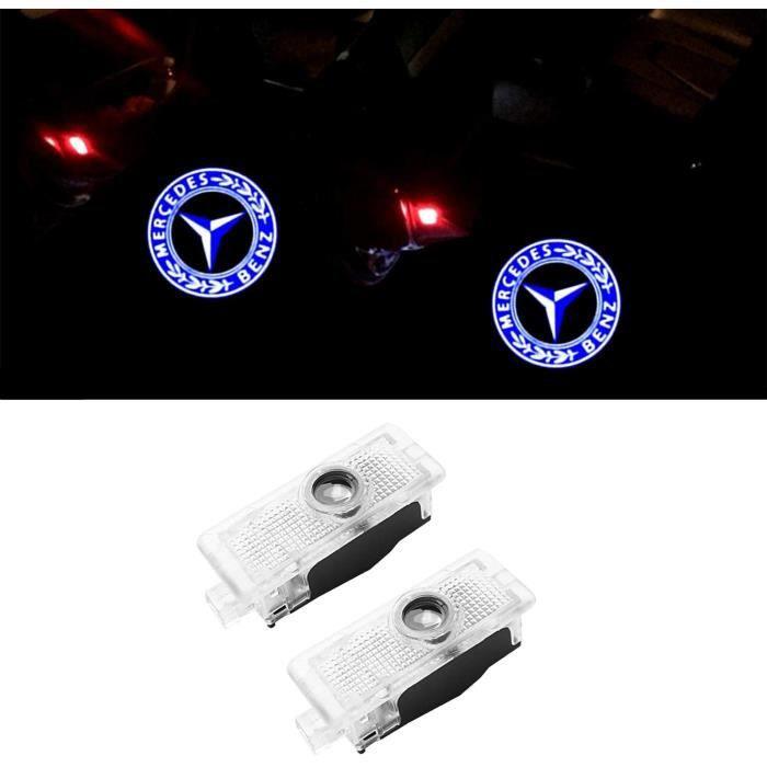 2 Pcs Car Logo Projection LED Projecteur Porte Fant?me Ombre Lumière Lampe pour la lumière de bienvenue