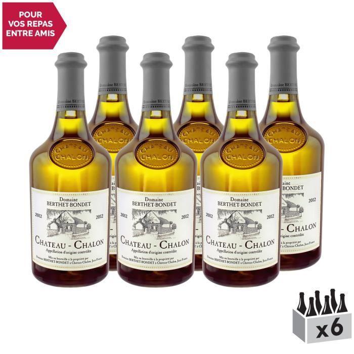 Château-Chalon Blanc 2012 - Lot de 6x75cl - Domaine Berthet-Bondet - Vin AOC Blanc du Jura - Cépage Savagnin