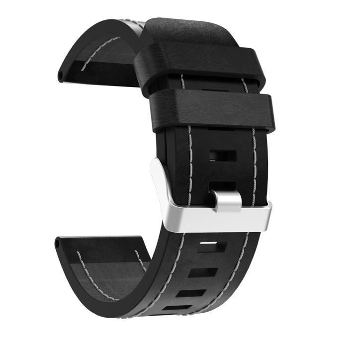 bracelet de montre vendu seul Bracelet de montre de remplacement en cuir de luxe avec outils pour Garmin Fenix 5x XLQ70713704_non