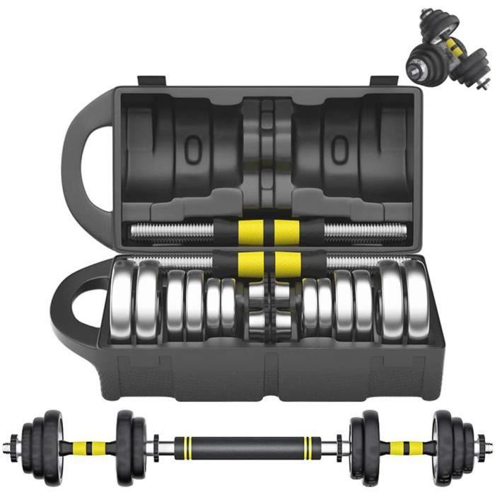 Haltère Réglable Barbell Electroplated Haltère Hommes Équipement De Fitness À Domicile Formation Bras Muscle Paire 15-20 Kg pour183