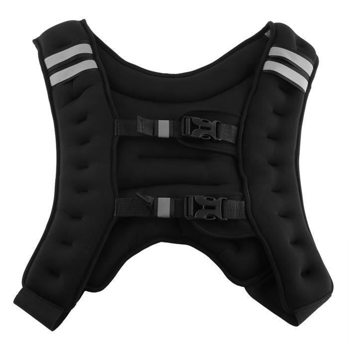 Veste de musculation gilet lesté d'exercice avec boucle réglable pour la remise en forme d'entraînement