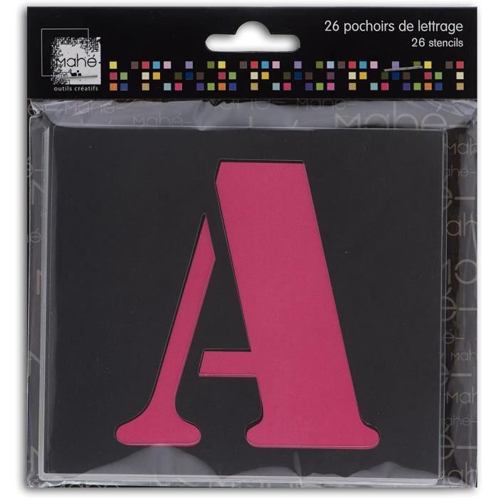 Dreager by Toga - 26 Pochoirs Lettre - Les 26 Lettres de L'Alphabet en Majuscule - Pochoirs Multiusages - Pour Tracer, Colorier, Pei