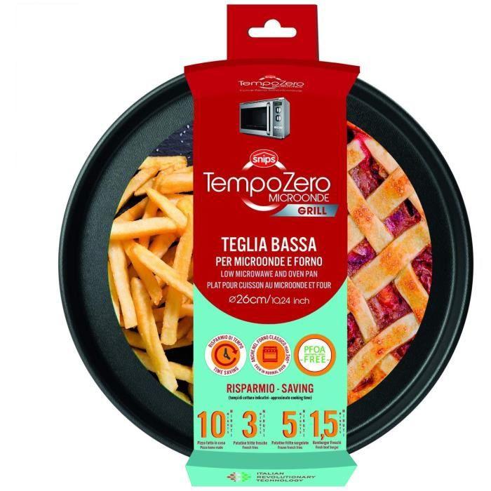 MICRO ONDES Snips Assiette Basse pour Micro-Ondes – Diam&egravetre 26 cm-h 2,2 cm – Ligne Tempo Zero Micro-Ondes311