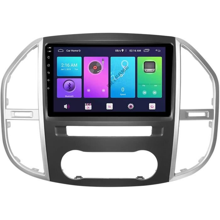 AUTORADIO Android 10.0 Autoradio 2 Din Unit&eacute Principale pour Mercedes Benz Vito 2016-2019 Navigation GPS &Eacutecran T272