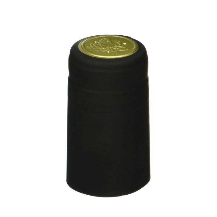 Tire-Bouchon,GUHD 50 pièces-lot bouchon de bouteille de vin Casquette thermorétractable, bouchon - Type BLACK GOLD 30CM