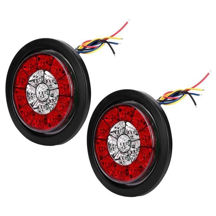 Atyhao Feu stop LED 2 pièces 4in DC 24V 16 LED étanche feu de freinage arrière clignotant feu arrière pour camion remorque