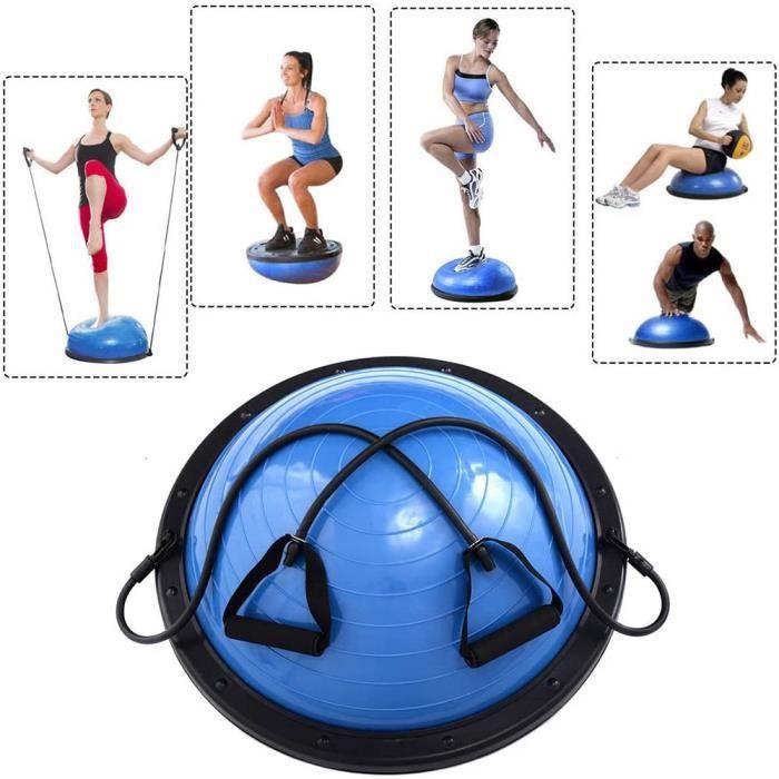 Balance Trainer, Ø18'' Balance Trainer ball , avec Câbles de Resistance et Pompe-Bleu