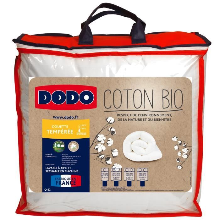 DODO Couette tempérée Coton Bio - 220 x 240 cm