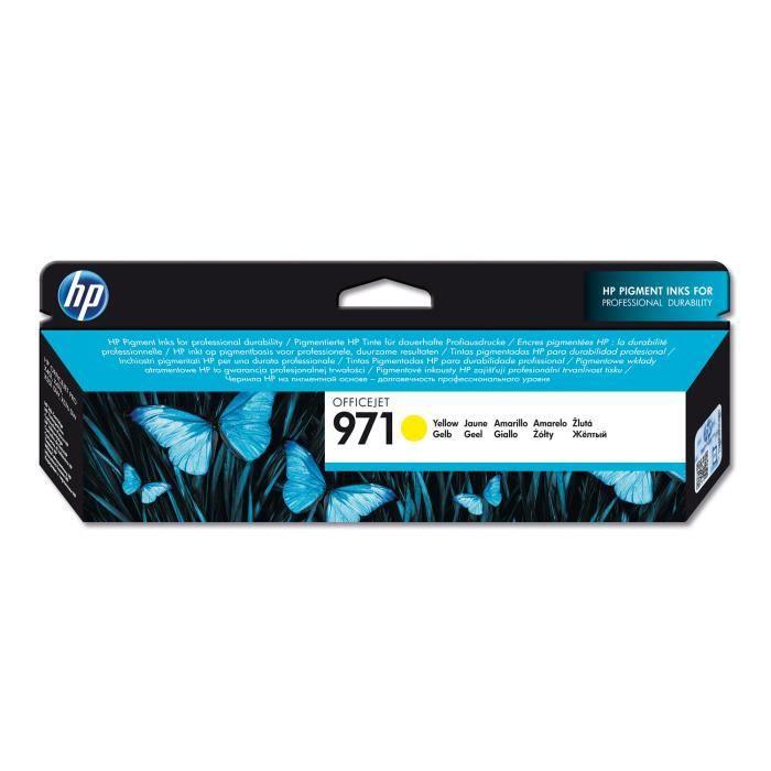 HP Cartouche d'encre 971 - 2500 pages - Pack de 1 - Jaune