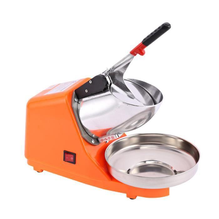 380W 220V Machine Broyeur a glace electrique en Acier Inoxydable- Orange