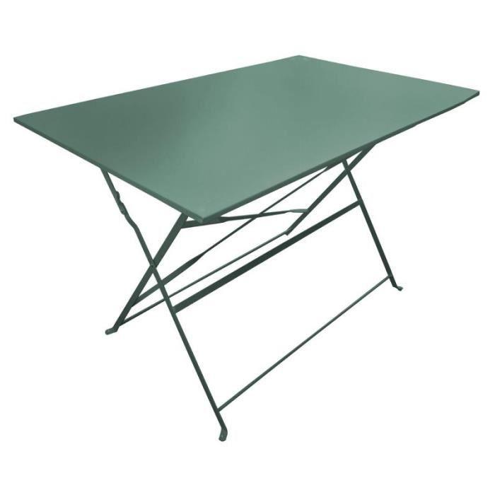 Table De Jardin Pliante -palerme- 110cm Kaki - Paris Prix Vert