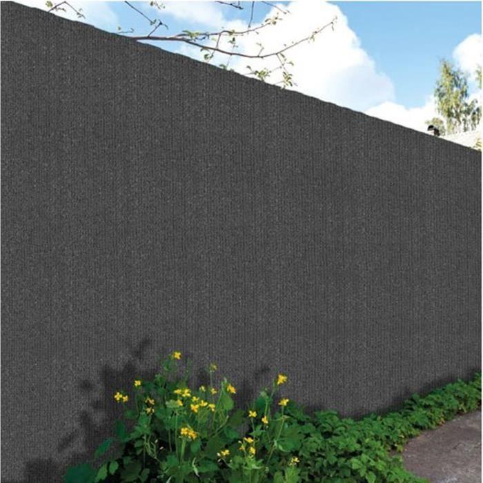 Brise-vu en toile Hdpe Haute Qualité 300gr Gris Anthracite - Dim : 1,80 x 10 m