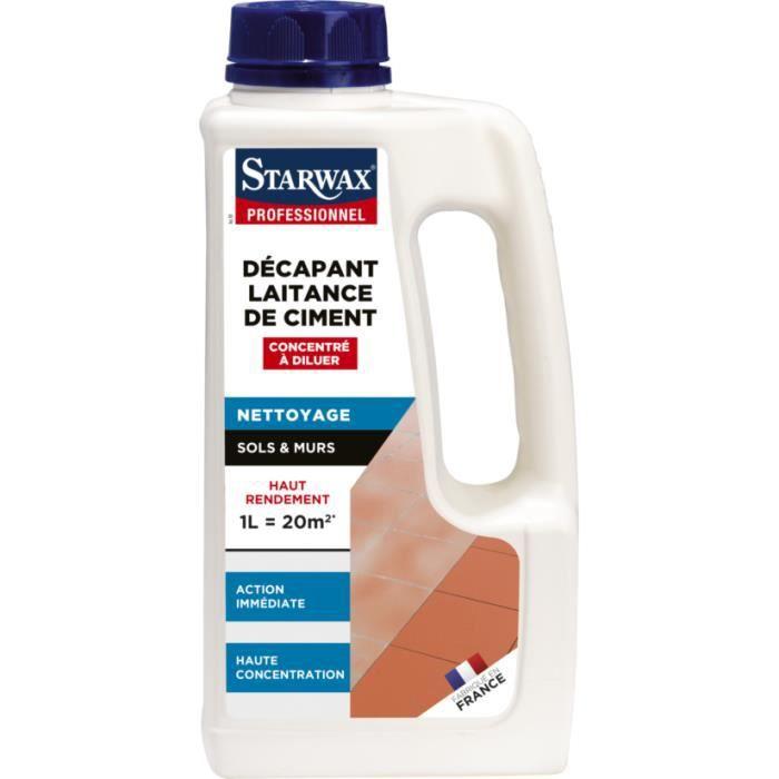 Décapant concentré laitance de ciment STARWAX sol carrelé - bidon 1L - 5034