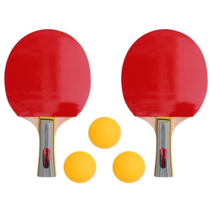 2 ensembles de raquettes de ping-pong raquette de tennis de table RAQUETTE DE TENNIS DE TABLE - CADRE DE TENNIS DE TABLE