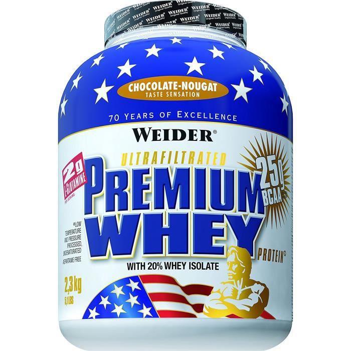 Weider Protéines en poudre Premium Whey Choco-Nougat 2300 g: Hygiène et Soins du corps