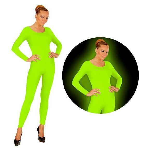 Justaucorps à manches longues vert fluo - Taille S/M TU Multicolore