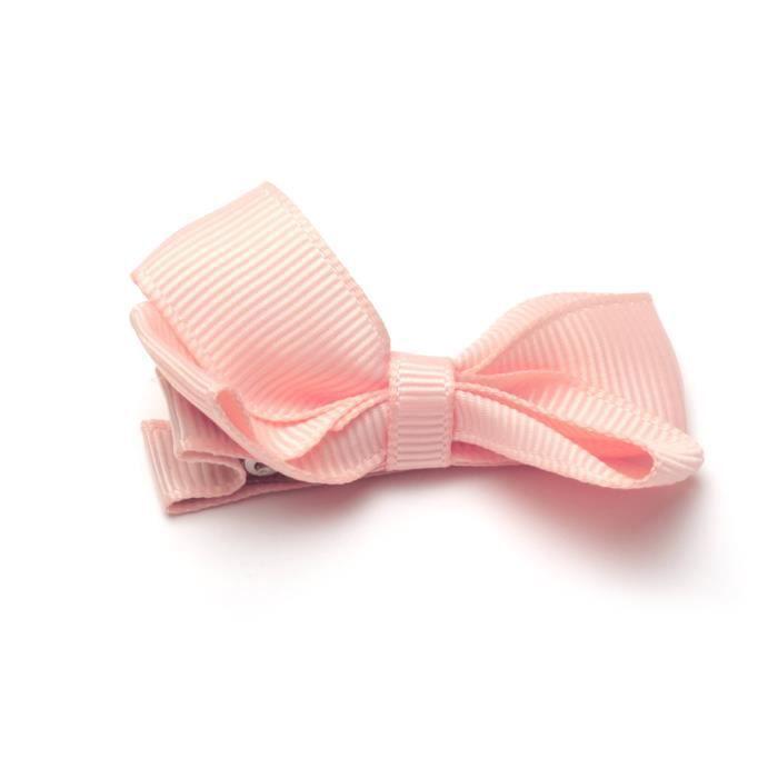 Hair Bow Clips-Pack de 40 RUBAN clips cheveux bébé rose cheveux Bow Clips filles
