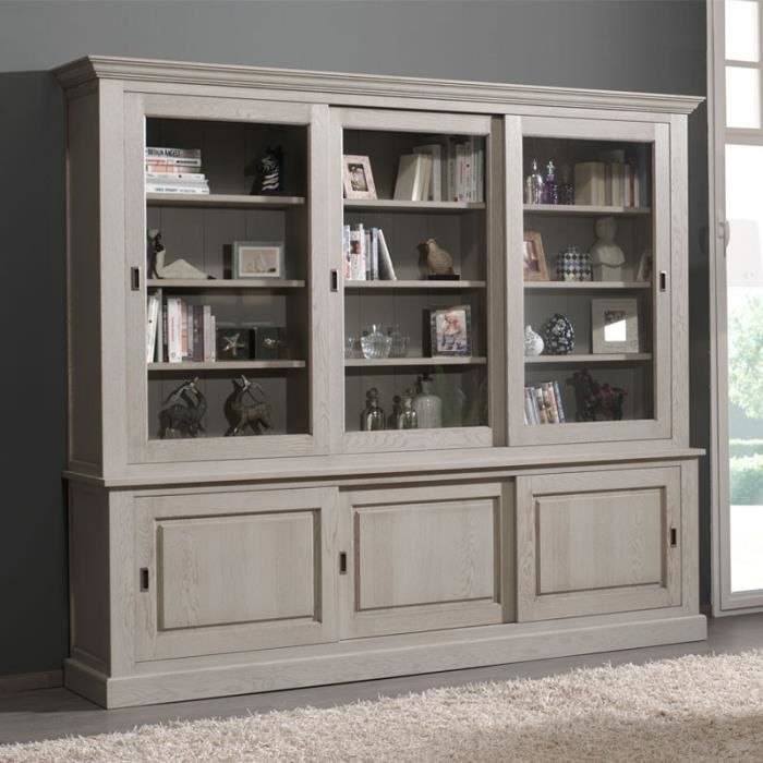 biblioth que 6 portes coulissantes berty l 273 x l 47 x h 235 cm achat vente. Black Bedroom Furniture Sets. Home Design Ideas