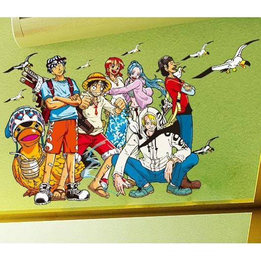 Stickers muraux enfant one piece achat vente stickers for Decoration murale one piece