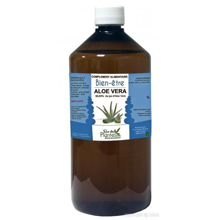jus d 39 aloe vera 1l achat vente digestion transit jus d 39 aloe vera 1l cdiscount. Black Bedroom Furniture Sets. Home Design Ideas