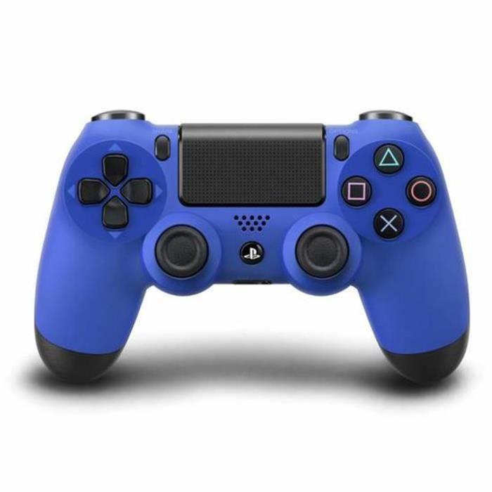 MANETTE JEUX VIDÉO ELENXS® Manette DualShock Bleu Pour PS4 Sans fil