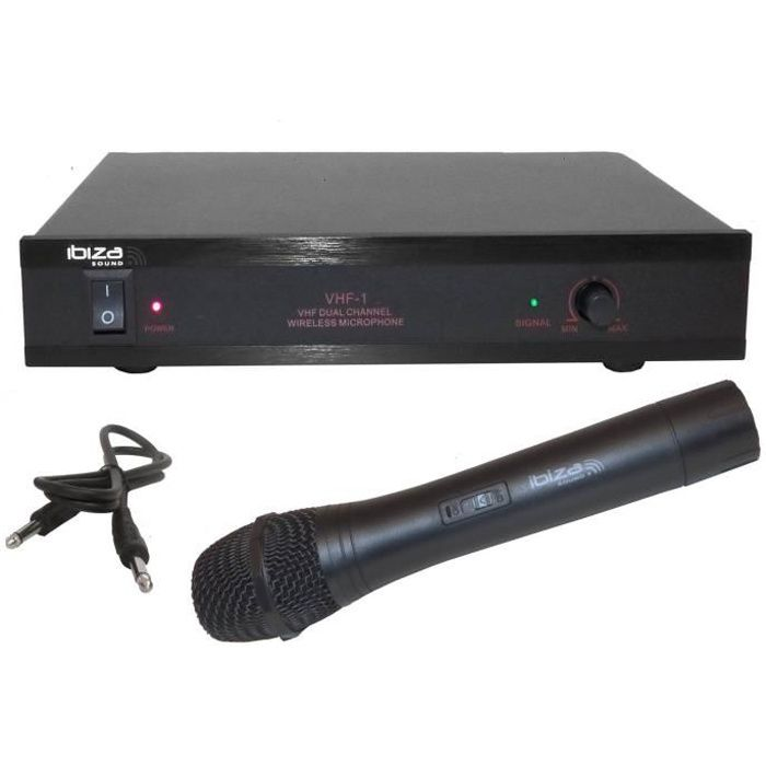 micro sans fil 2 canaux ibiza sound vhf1 microphone. Black Bedroom Furniture Sets. Home Design Ideas