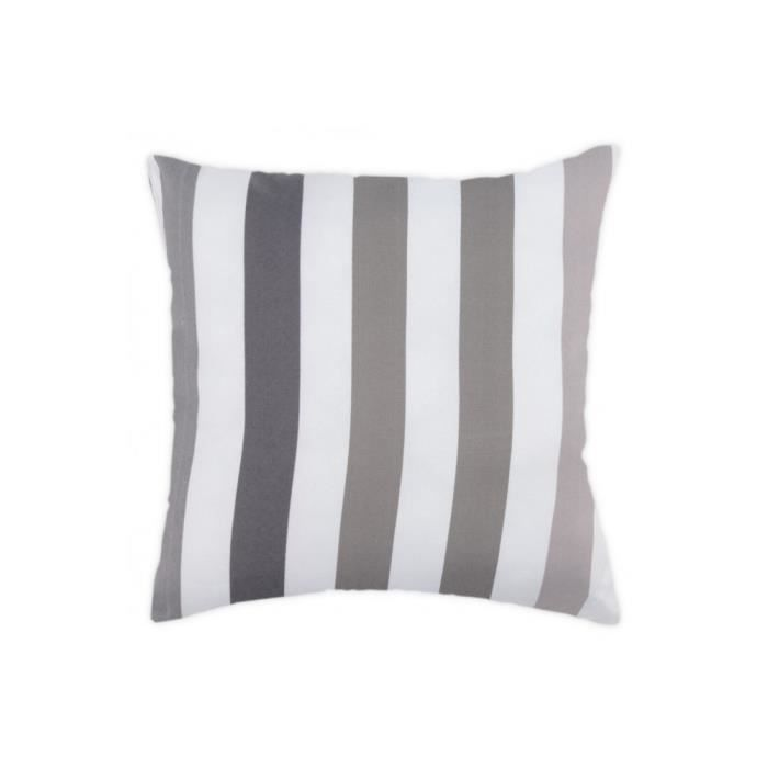 coussin 40x40 cm ray multicolore blanc gris achat. Black Bedroom Furniture Sets. Home Design Ideas
