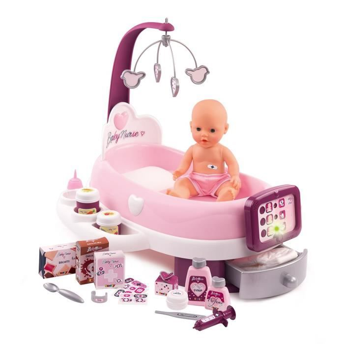ACCESSOIRE POUPON SMOBY Baby Nurse Nursery Electronique + Poupon Pip