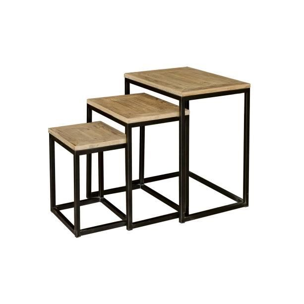 table basse gigogne bois metal images. Black Bedroom Furniture Sets. Home Design Ideas