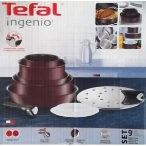 T fal ingenio pourpre induction set 9 pi ces achat - Batterie cuisine tefal ingenio induction ...