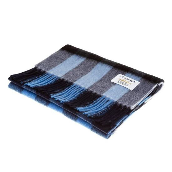 Edinburgh 100/% Laine D/'AgneAu écharpe-bleu marine-vraiment doux