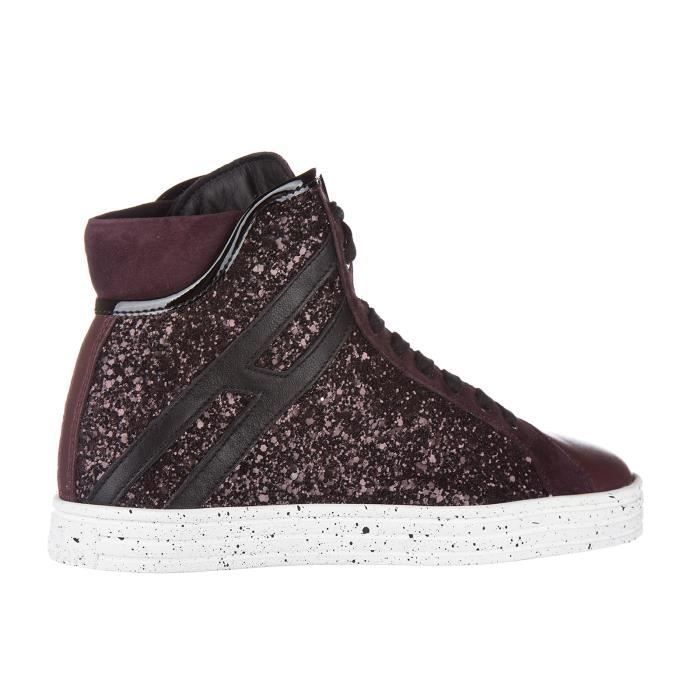 Chaussures baskets sneakers hautes femme en cuir r182 colletto imbottito Hogan Rebel hRNIKGS
