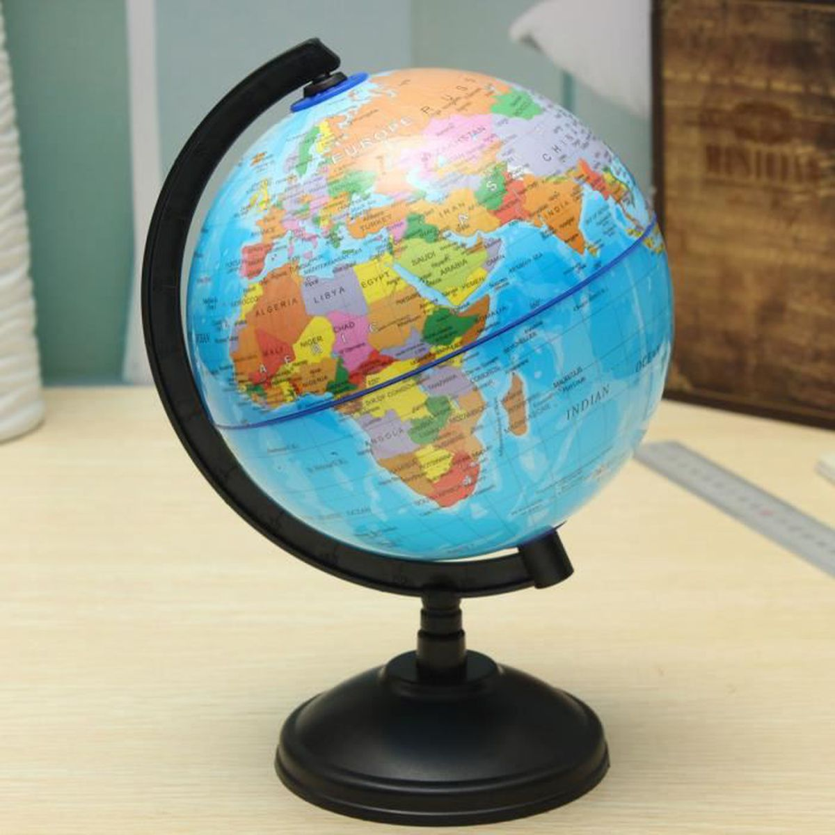 14cm carte du monde globe terrestre base g ographie ducatif enfant jouet cadeau achat vente. Black Bedroom Furniture Sets. Home Design Ideas