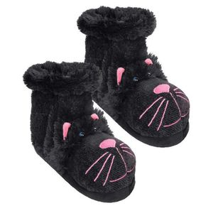 CHAUSSON - PANTOUFLE Boots Chat noir Fun & Confortable - Aroma home