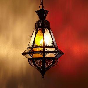 Oriental Lanterne 55 Antique Métal Marocaine lustre verre Marakesch