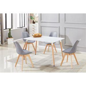 Ensemble table et chaise salle a manger scandinave