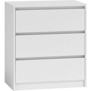 COMMODE DE CHAMBRE Commode moderne avec 3 tiroirs Karo K3 43 Blanc