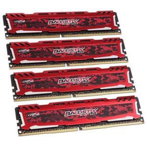 MÉMOIRE RAM Crucial Ballistix Sport LT Series rot, DDR4-2400,