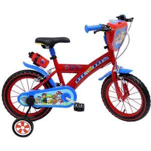 VÉLO ENFANT PAT PATROUILLE Vélo 14''- Rouge et bleu - Enfant