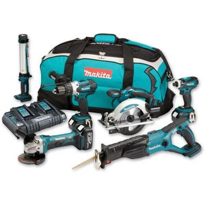 PACK DE MACHINES OUTIL MAKITA Pack 6 machines 3x18V 4Ah Li-ion