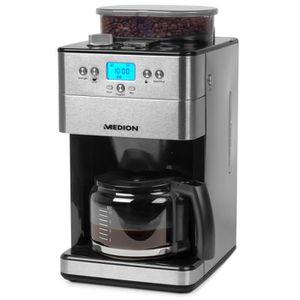 CAFETIÈRE MEDION® Cafetière filtre programmable avec broyeur