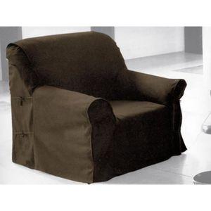 HOUSSE DE FAUTEUIL Housse de fauteuil en coton PANAMA taupe.