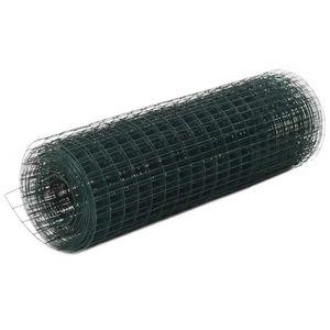 CLÔTURE - GRILLAGE Grillage Métal Acier et revêtement en PVC 25x0,5 m