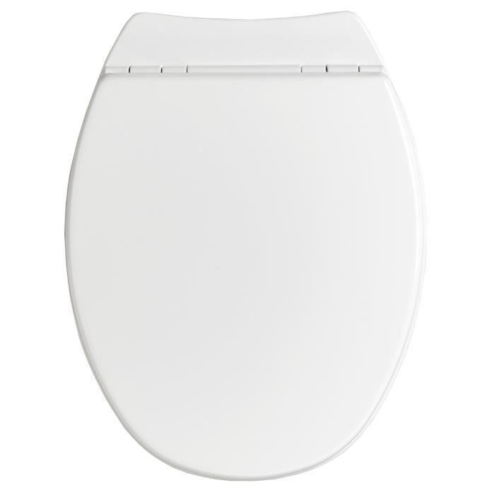 Abattant WC Sérénity 2 - bois compressé - blanc