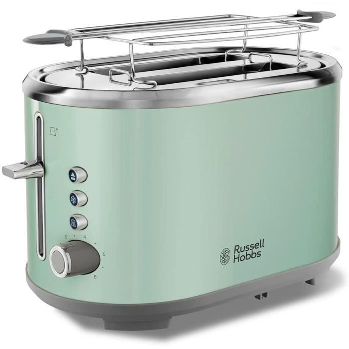 Russell Hobbs Toaster Grille Pain, Fentes XL, Cuisson Ajustable - Vert 25080-56 Bubble22