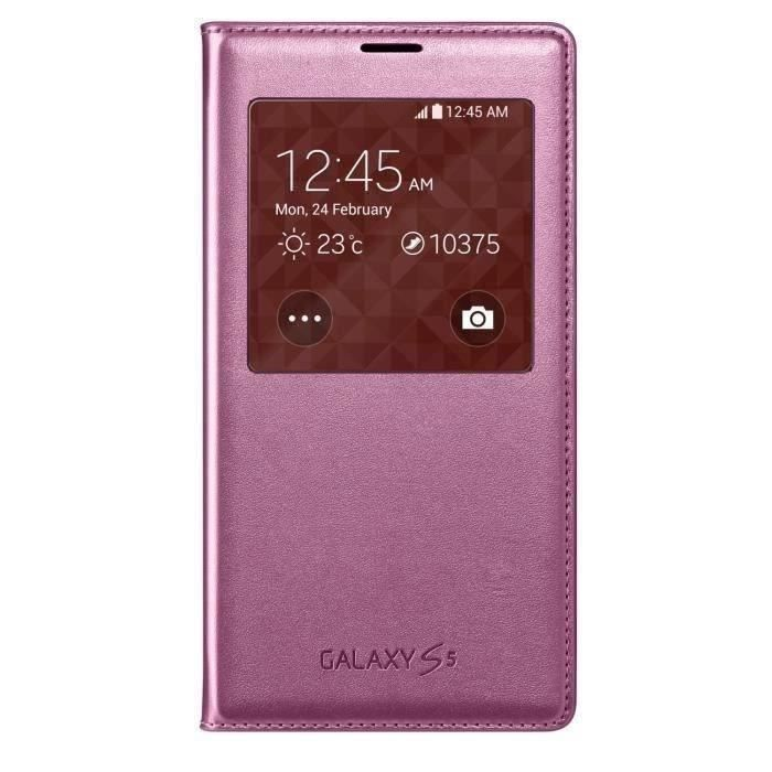 SAMSUNG Galaxy S5 coque S View - Rose