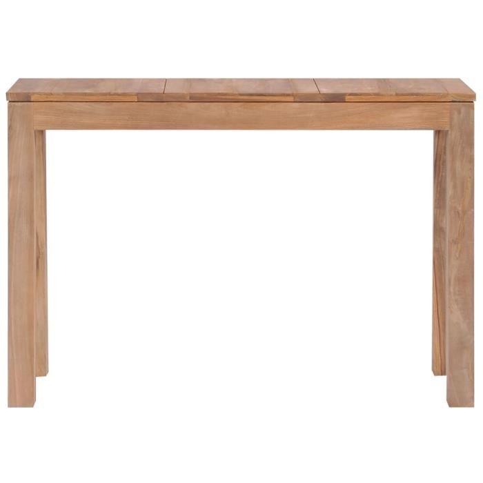 Chic - Console Style Contemporain - Table console Armoire console Table d'appoint Bois de teck et finition naturelle 110 x 35 x 76